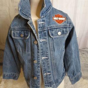 3/$30 Harley-Davidson denim jean jacket size 4/5
